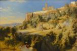 Карл Эдуард Фердинанд Блехен. Вид на Ассизи