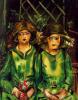 Две девушки в зеленом