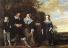 Франс Хальс. Семейный портрет на фоне пейзажа