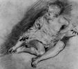 Сидящая молодая женщина в рубашке