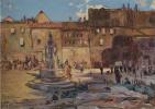 Lev Samoilovich Bakst (Leon Bakst). City square in Lebenicht