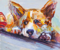 "Oil painting ""Corgi. Waiting for the owner N6"""