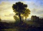 Желле Клод. Пейзаж с Иаковом, Рахилью и Лией у колодца