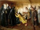 Царь Иван Грозный просит игумена Корнилия постричь его в монахи