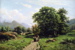 "The Swiss landscape. A variant of the painting ""View near Dusseldorf"""