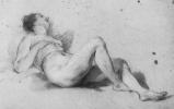 Франсуа Лемуан. Лежашая обнаженная натурщица