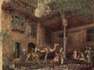 Двор дома художника в Каире