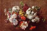 Анри Фантен-Латур. Букет цветов