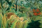 Анри Руссо. Нападение в джунглях