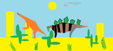 Stegosaurus and camptosaurus