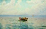 Лев Феликсович Лагорио. Вид на море с лодкой