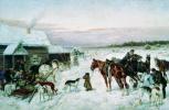 Николай Егорович Сверчков. У кабака зимой. 1891