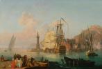 Пьер-Жак Волер Франция. Imaginary view of the harbour of Naples.
