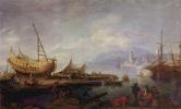 Якоб Филипп Хаккерт. Прибрежный пейзаж