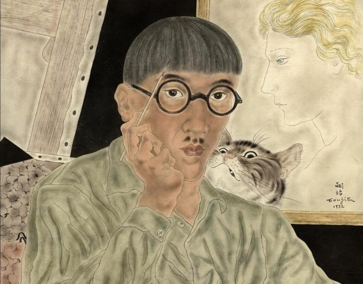 Tsuguharu Fujita: brush, sewing, cats, and ladies
