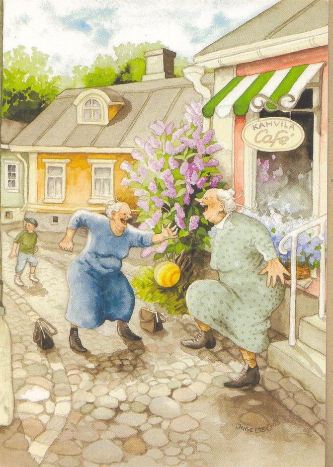 Прикольные картинки двух бабушек