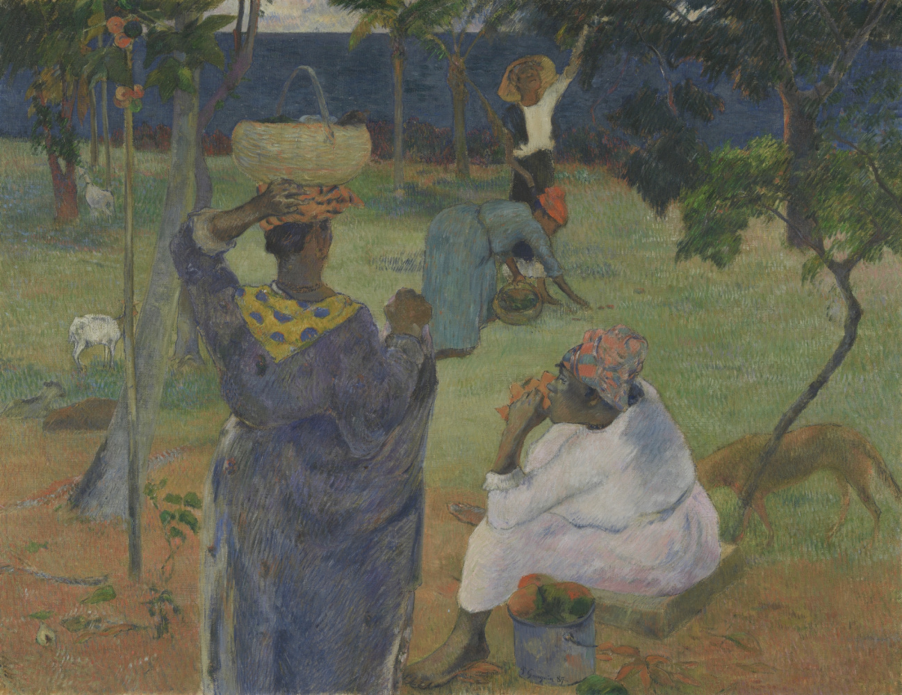 Martinique paintings by Gauguin and Laval in Van Gogh Museum
