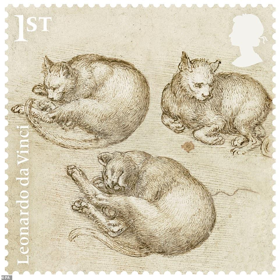 Британская почта выпустила марки к 500-летию со дня смерти Леонардо да Винчи