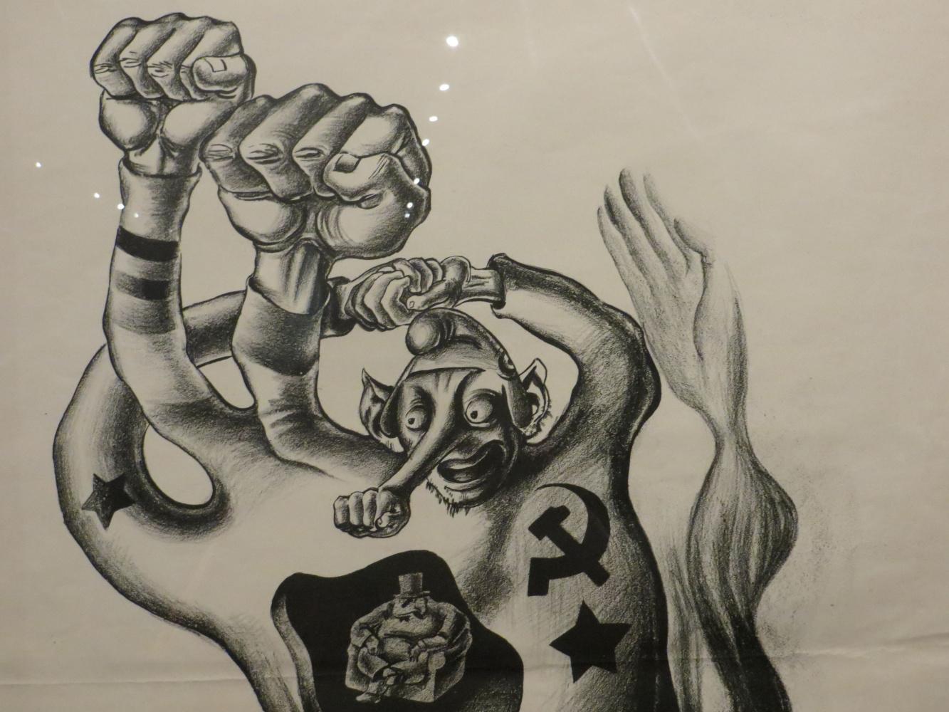 Это Мексика! Политические карикатуры участника покушения на Троцкого - в Одесском музее