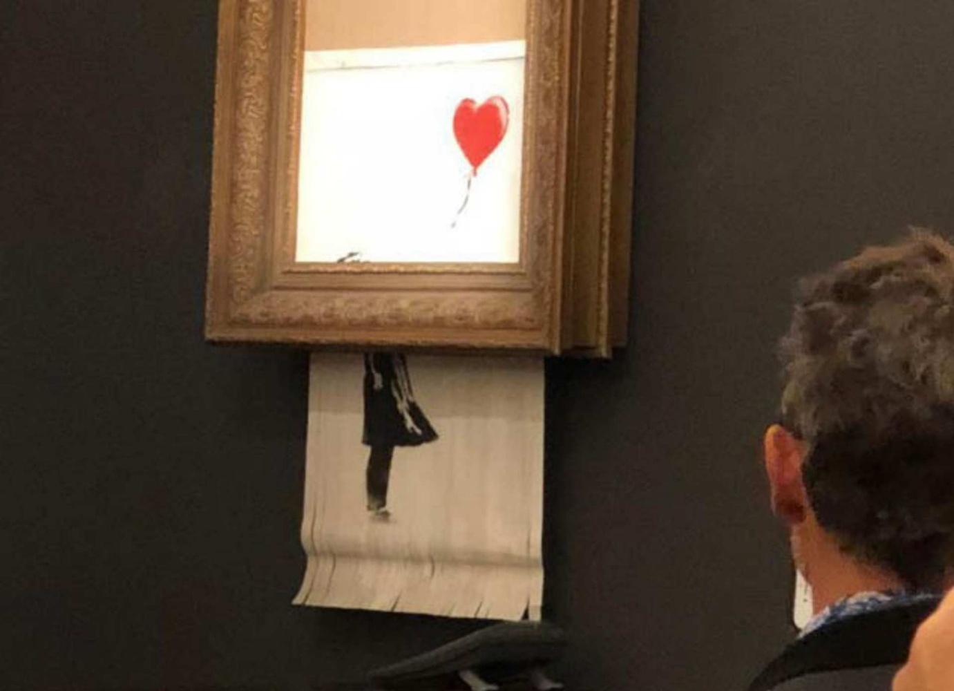 «Самоуничтожившуюся» картину Бэнкси покупатель заберёт под новым названием