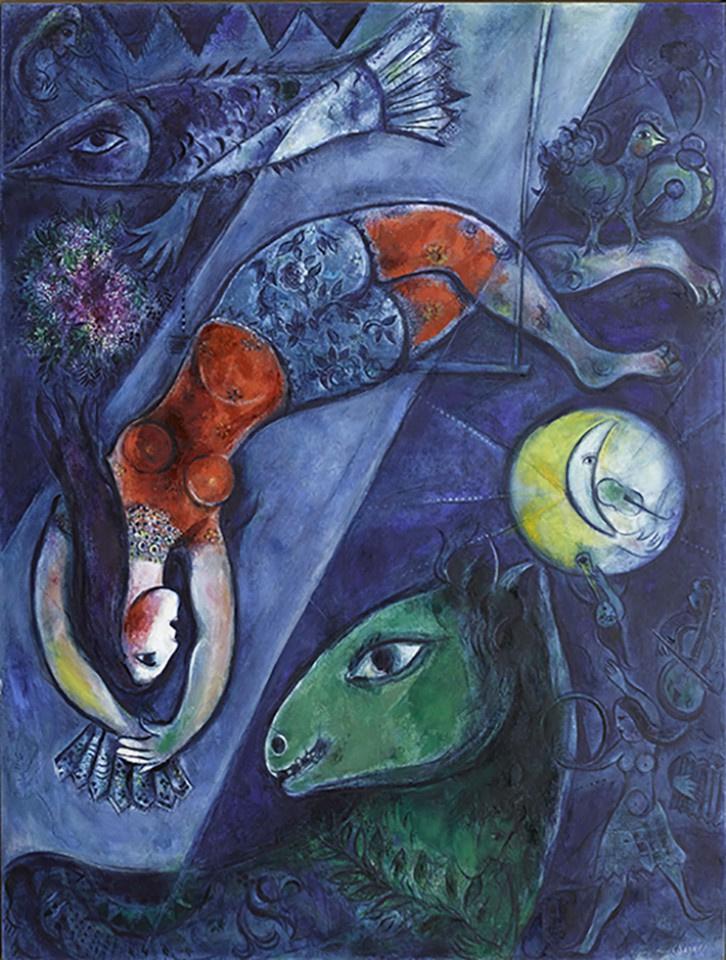 """""""Шагал: от поэзии к картинам"""": крупная выставка во Франции плюс стихи и цитаты мастера"""