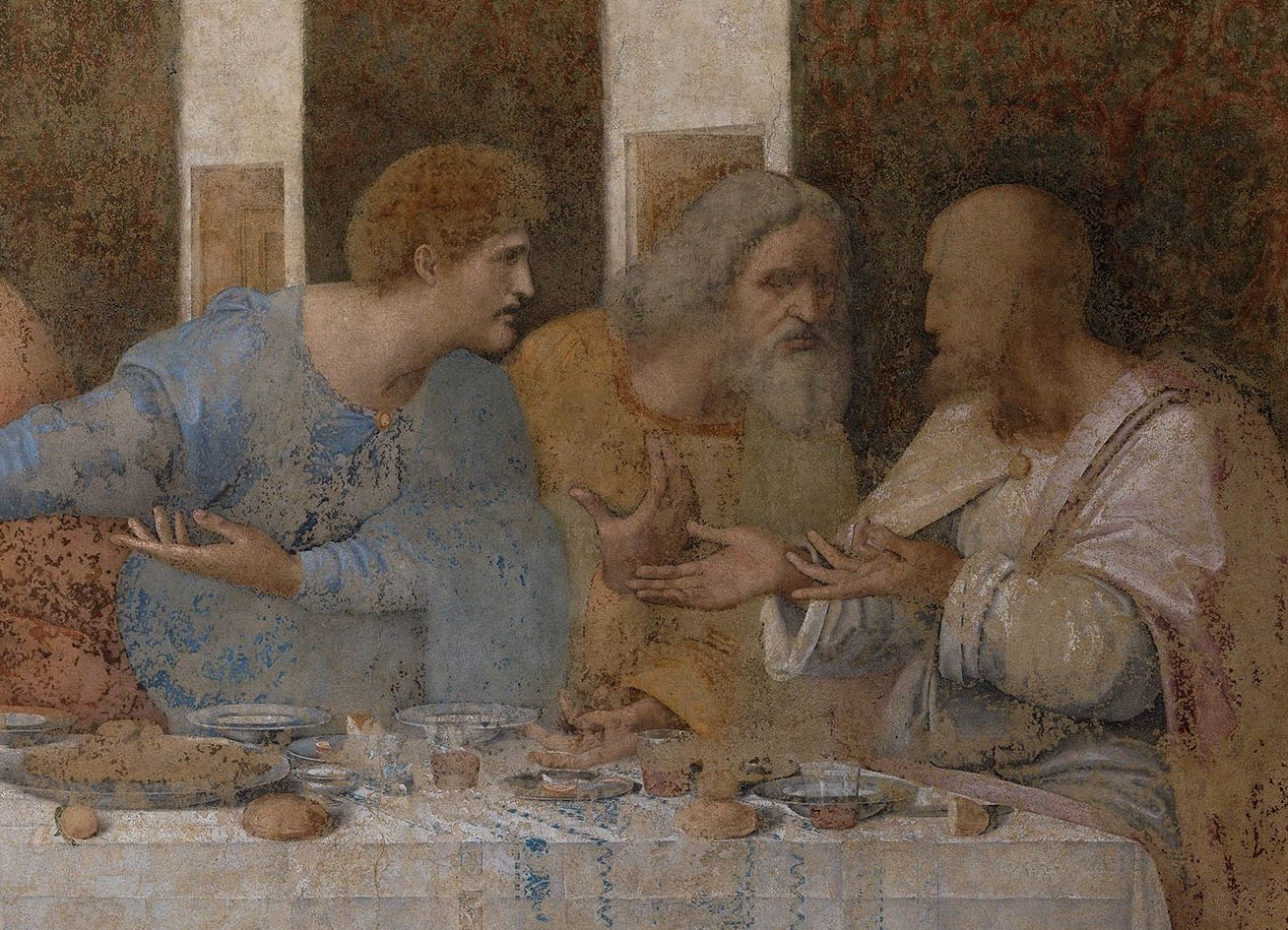 What is actually depicted on The Last Supper by Leonardo da Vinci?