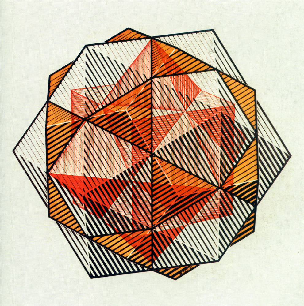 Мауриц Корнелис Эшер. Регулярные четыре твердые частицы