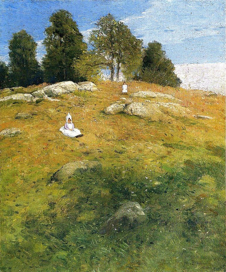 Julian Alden Weir. Child in the meadow