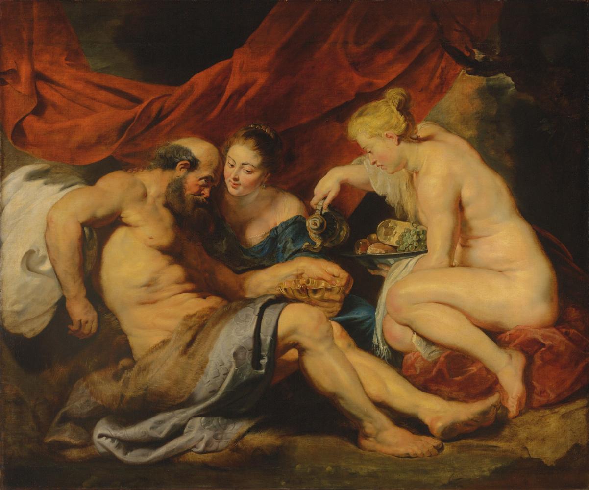Peter Paul Rubens. Lot and his daughters