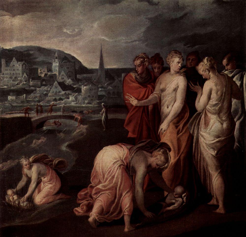 Никколо дель Аббате. Спасение Моисея из воды
