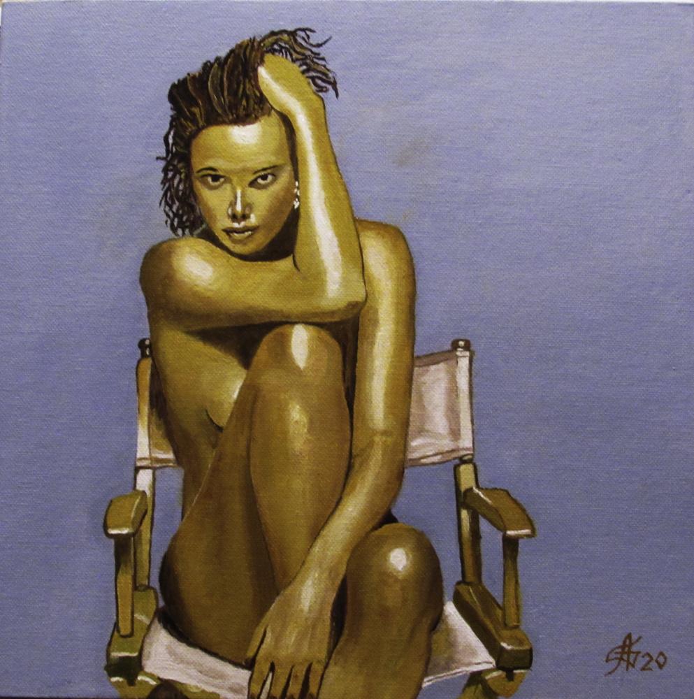 Artashes Badalyan. Charlize in bronze - x-hardboard-m - 30x30