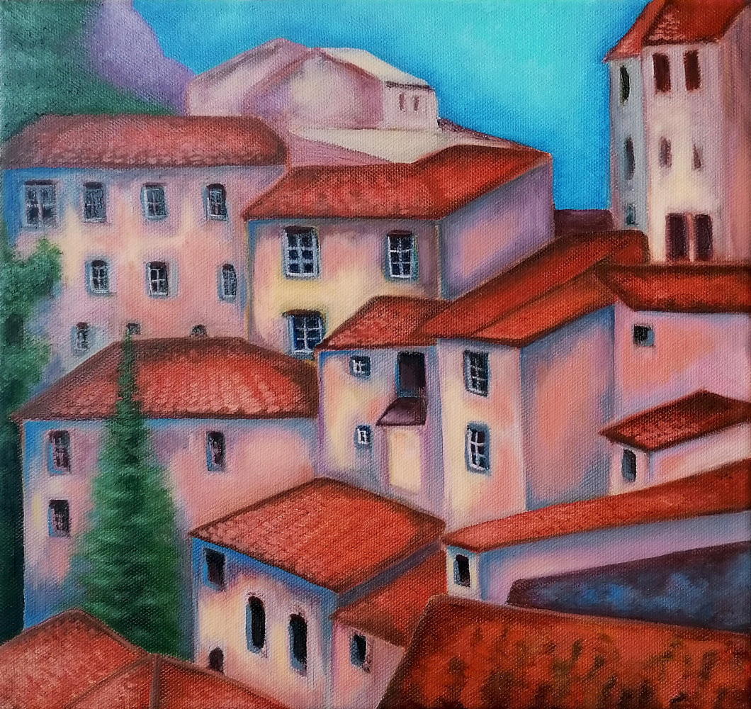 Red roofs of Italy