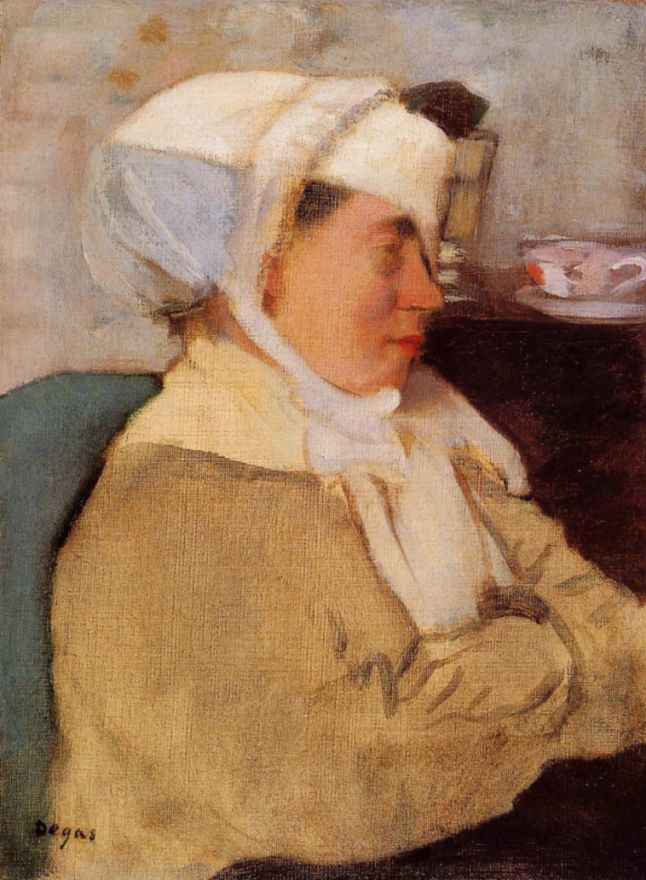 Edgar Degas. Woman with a bandage