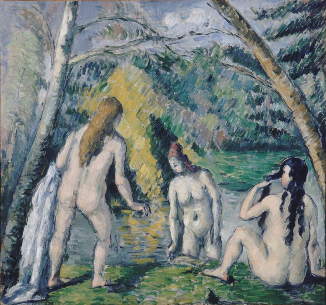 Paul Cezanne. Three bathers