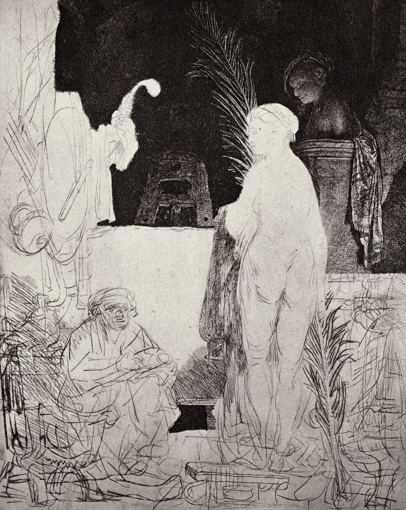 Рембрандт Харменс ван Рейн. Художник, рисующий модель
