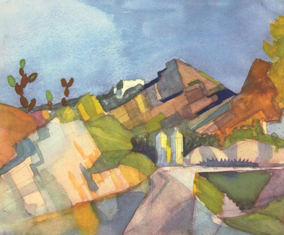 August Macke. Rocky landscape