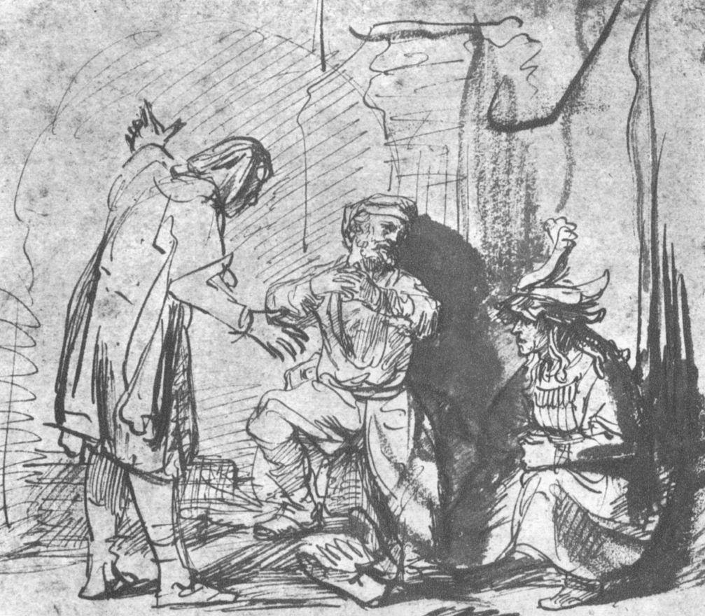 Рембрандт Ван Рейн. Иосиф толкует сны своим сопленникам