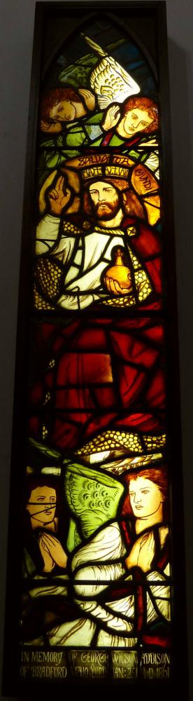 Уильям Моррис. Витражное окно церкви Святого Павла в Западном Йоркшире, Англия (соавторство с Данте Габриэлем Россетти)