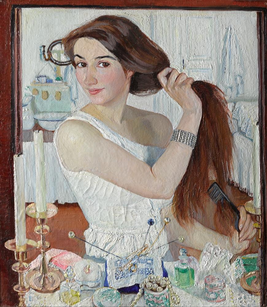 Зинаида Евгеньевна Серебрякова. За туалетом. Автопортрет