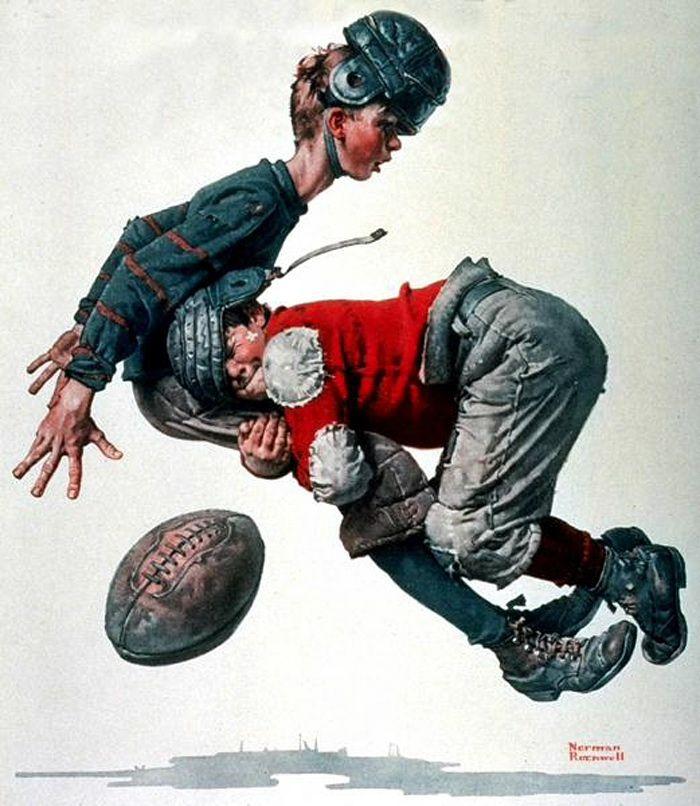 Норман Роквелл. Футбол