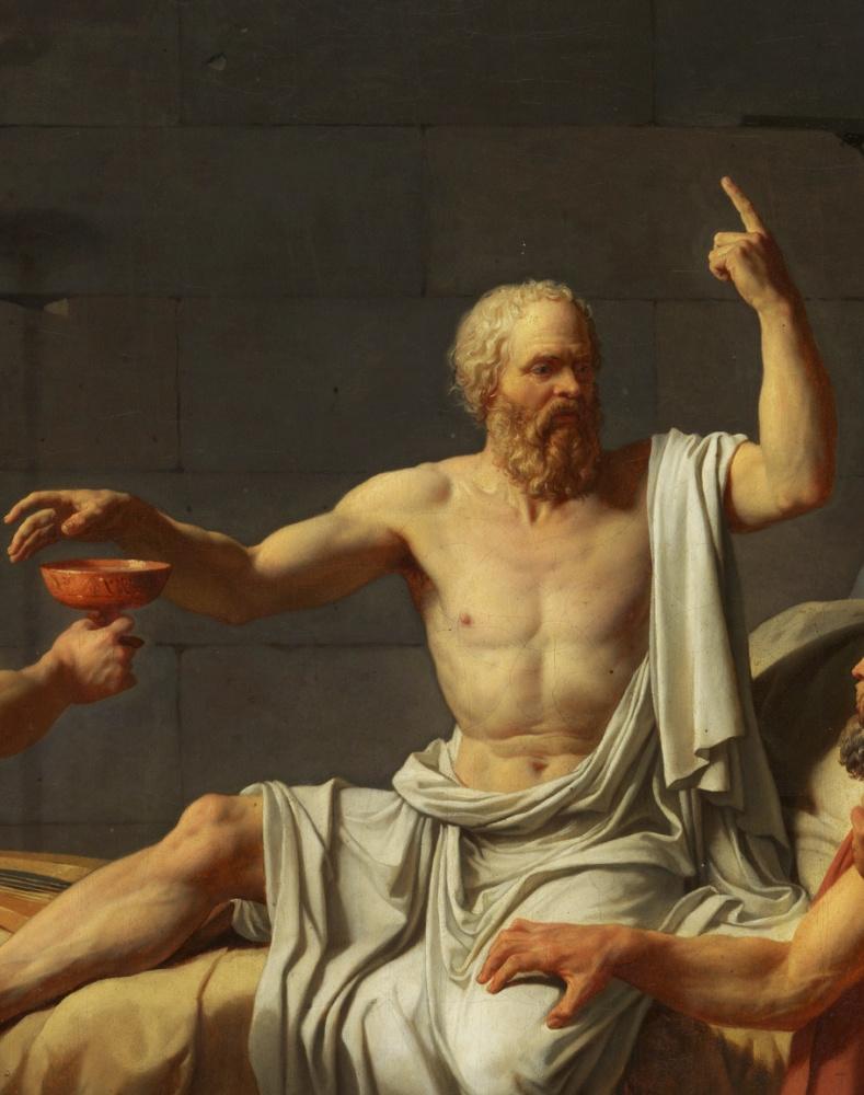 Жак-Луи Давид. Смерть Сократа. Фрагмент