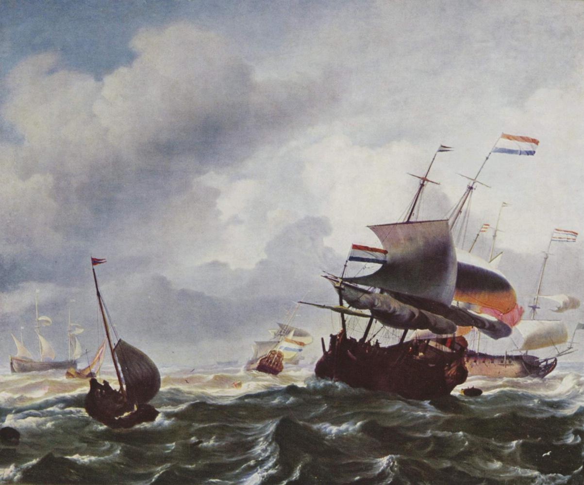 Людолф Бакхейсен. Корабли во время шторма