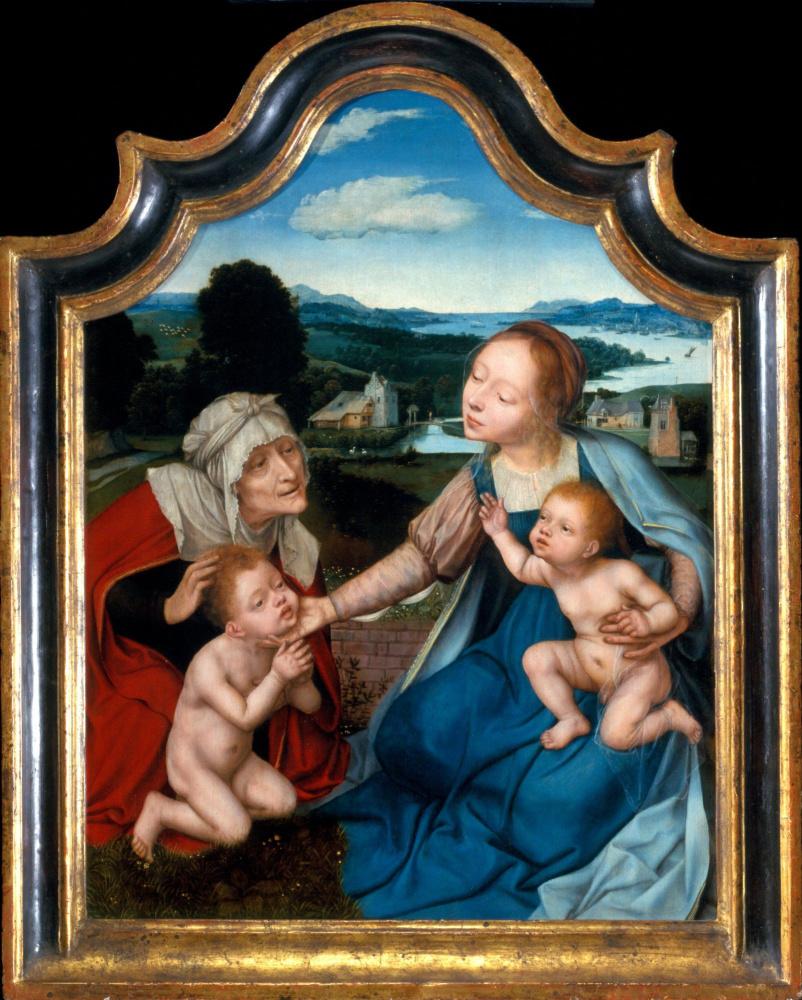 Квентин Массейс. Дева и Христос со Святой Елизаветой и Джоном Баптистом