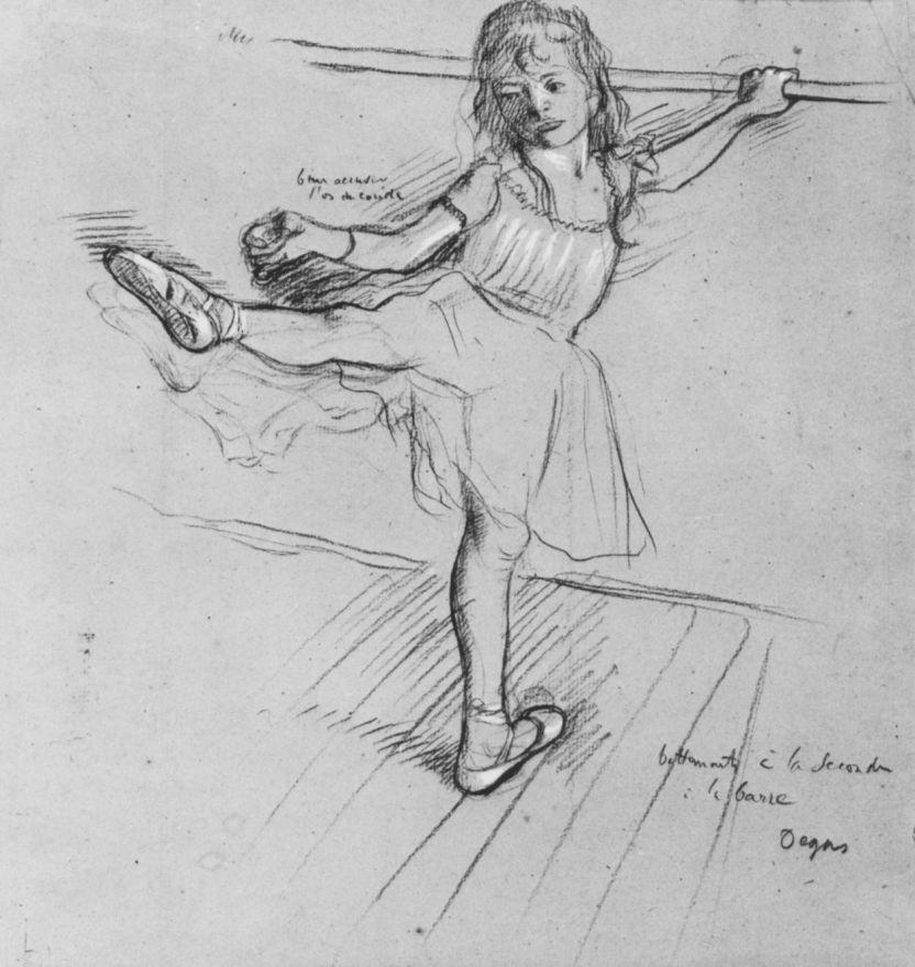 Эдгар Дега. Маленькая балерина у станка