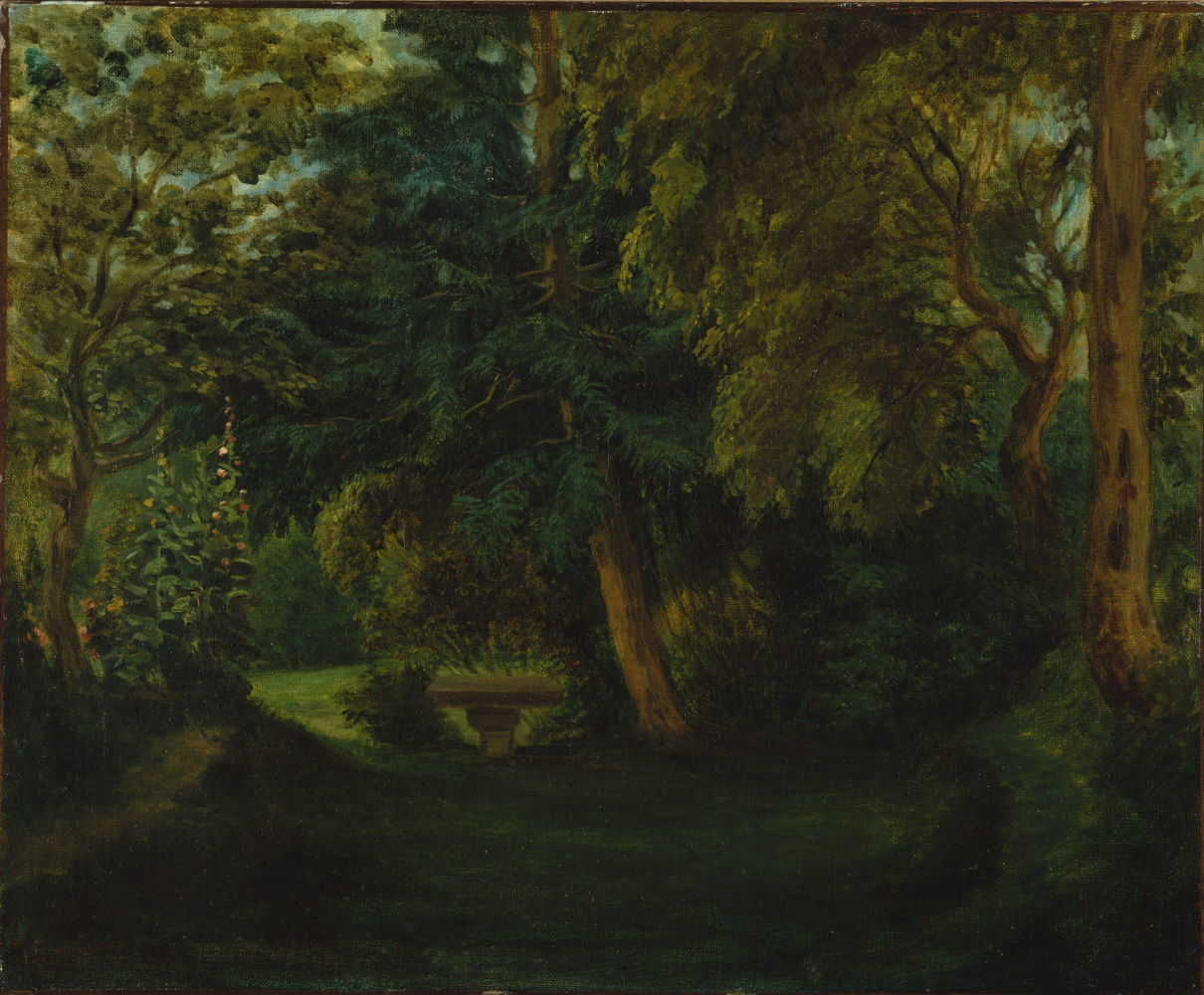 Eugene Delacroix. The garden of George sand in Nohant