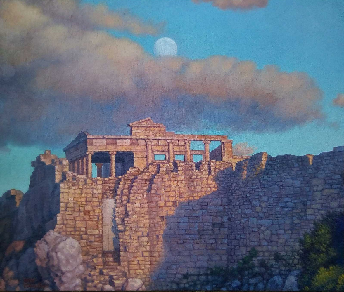 Ruslan Vasilievich Derevtsov. Ancient ruins in Greece. (2020)