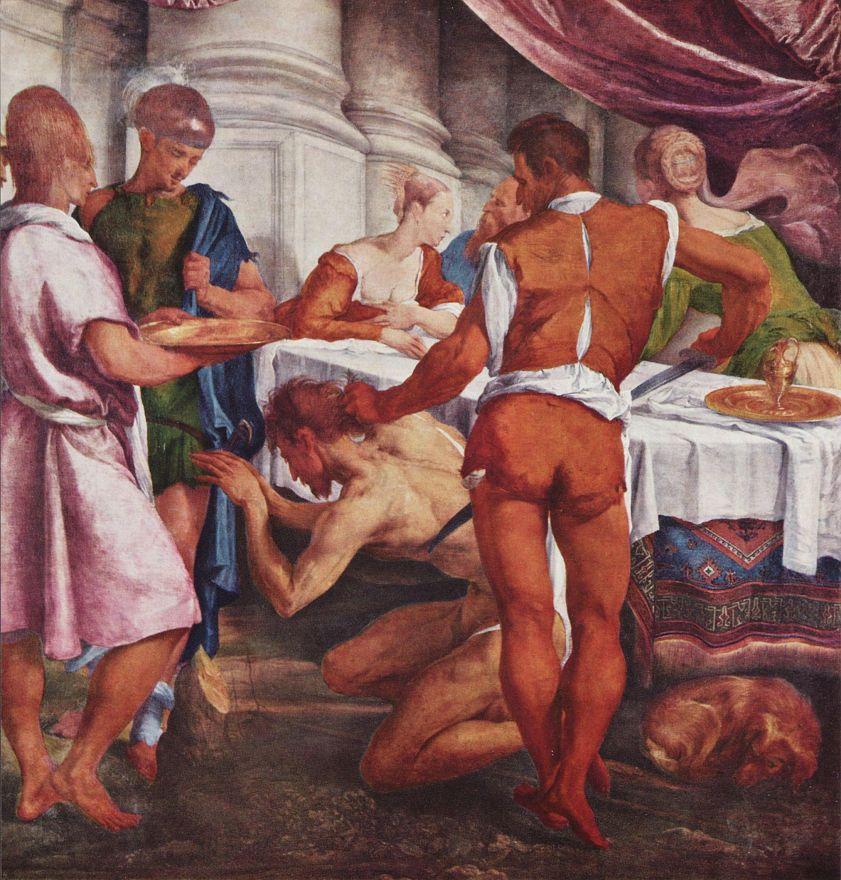 Jacopo da Ponte Bassano. The beheading of St. John the Baptist