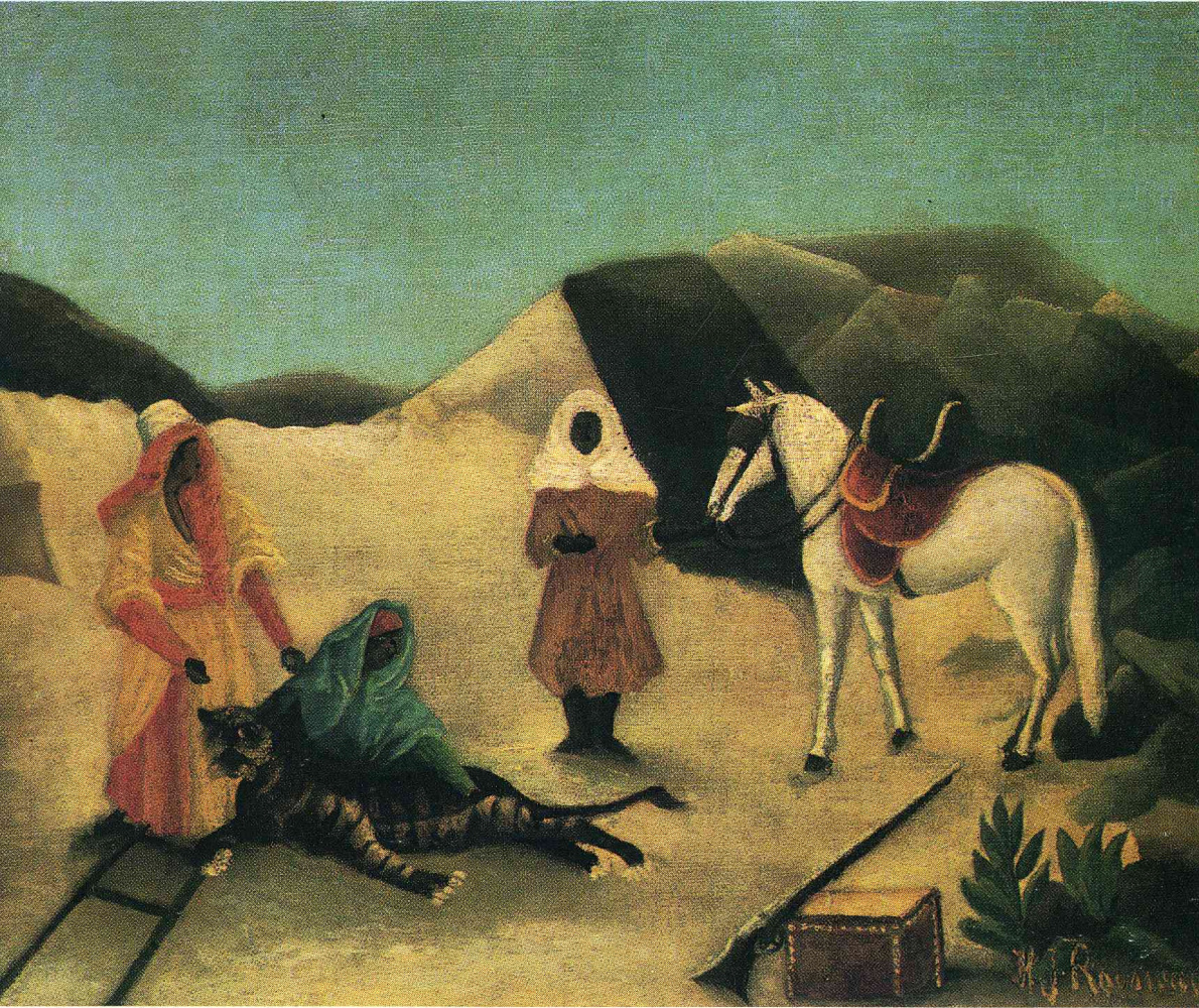 Henri Rousseau. Catching a tiger