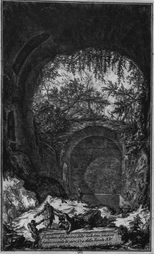 Джованни Баттиста Пиранези. Серия Античные памятники Альбано и Кастельгандольфо, лист 17, вид цистерны