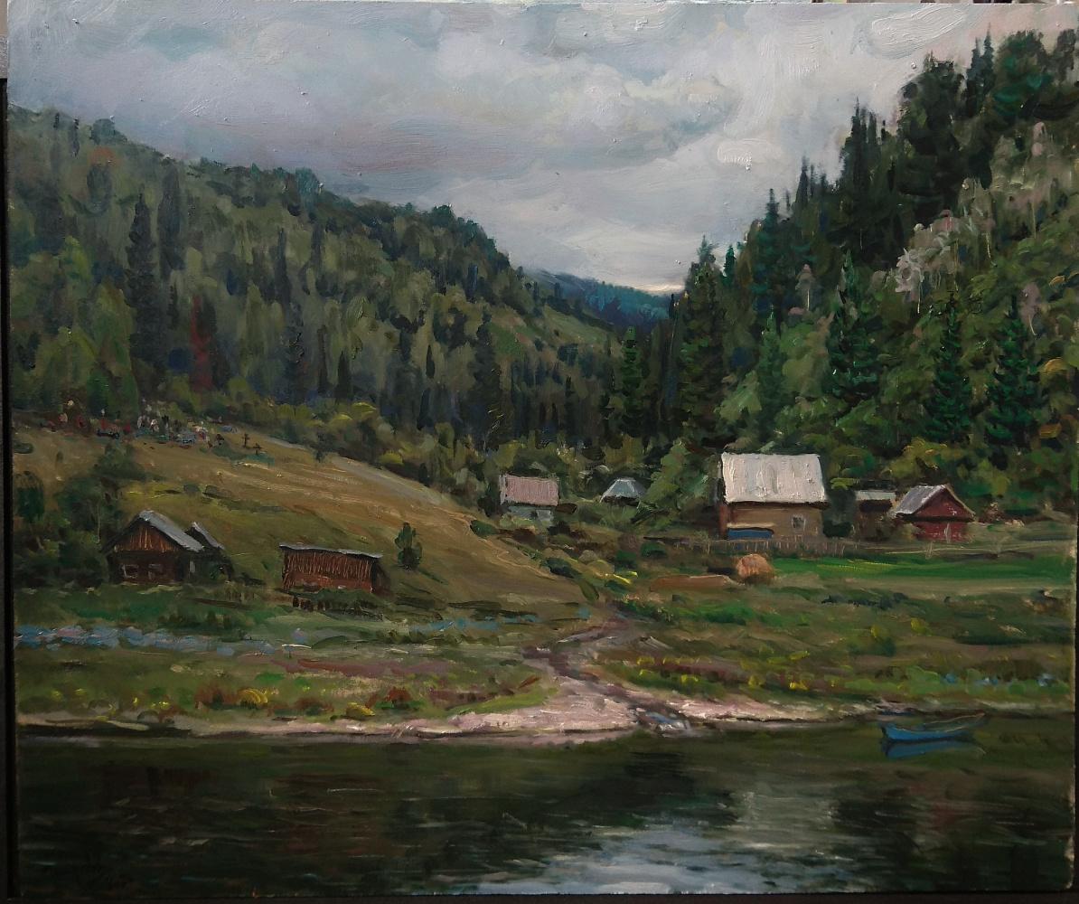 Dmitry Petrakov. A stream near the old cemetery. Ust-Kabyrza